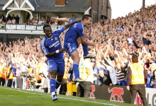 Chelsea's Frank Lampard celebrates with