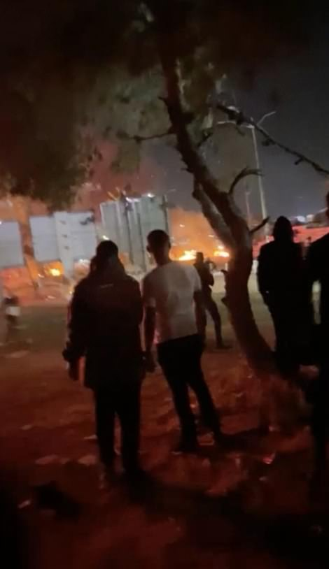 Several synagogues, homes, businesses and a school have been torched to the groundduring the unrest which has been going on for three nights and continues