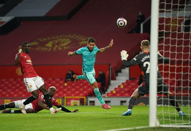 Roberto Firmino puts Liverpool ahead with a pinpoint header