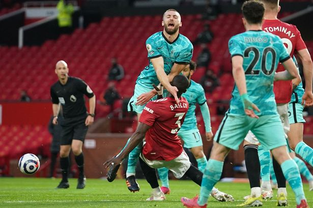 Eric Bailly was let off for his robust challenge on Nat Phillips inside the area
