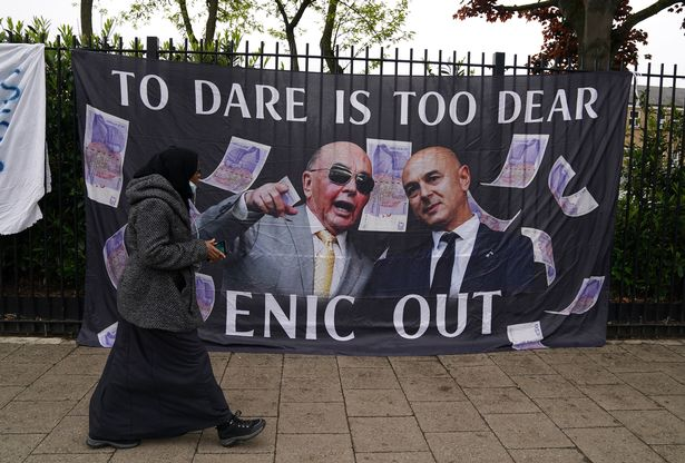 Earlier in the day Tottenham had protested against their owner