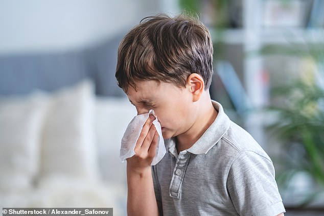 Children with Covid are unlikely to suffer typical symptoms such as a fever or cough, or loss of sense of smell, a new study suggests