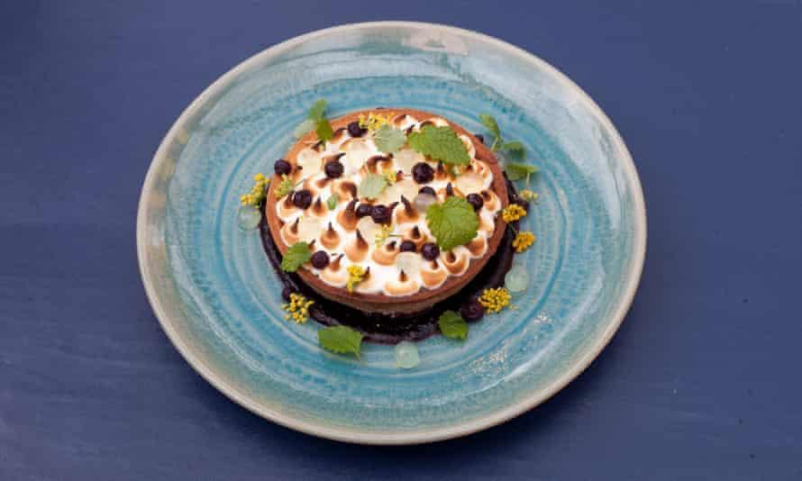 'The very essence of a sherbet dib dab': lemon meringue tart.