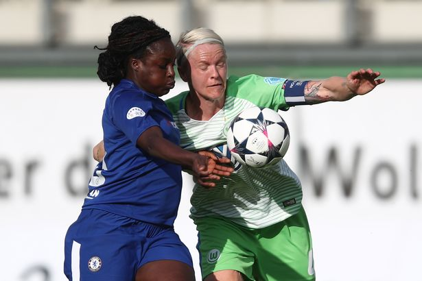 Aluko was involved in a Champions League semi-final defeat against Wolfsburg when the Blues still had ground to make up
