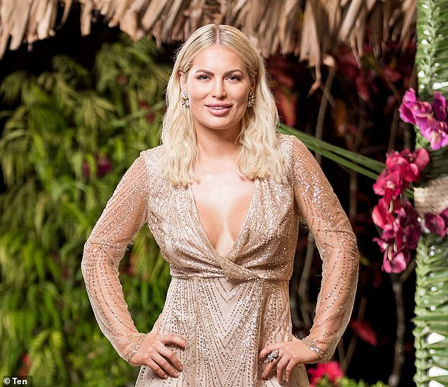 Filler fail:In 2018, she got lip fillers before filming the first season of Bachelor In Paradise, but she ended up regretting the trout pout and getting the fillers dissolved after filming. Pictured on Bachelor In Paradise 2018