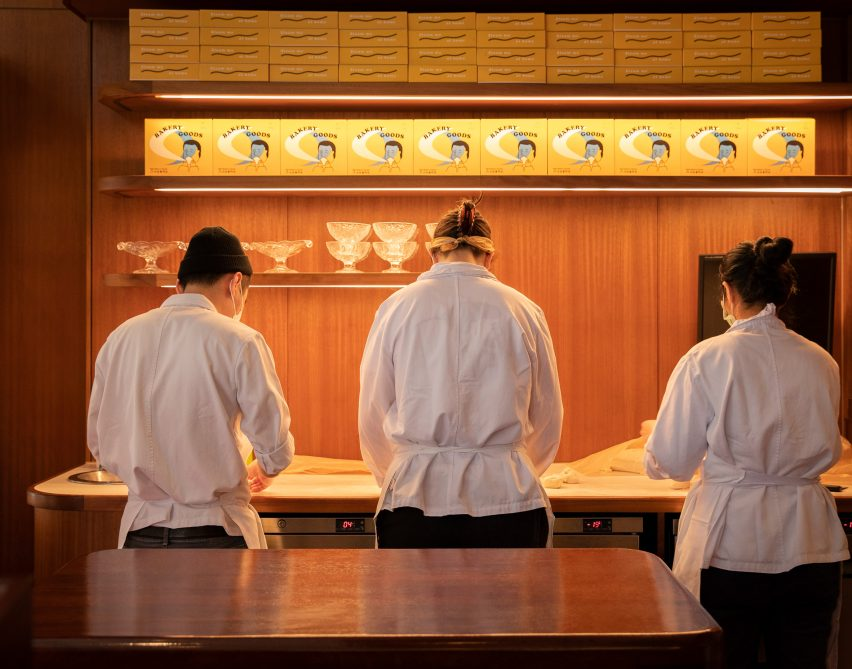 Pastry chefs working at Cafe Bao