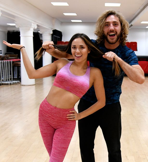 Seann Walsh and dance partner Katya Jones during Strictly rehearsals