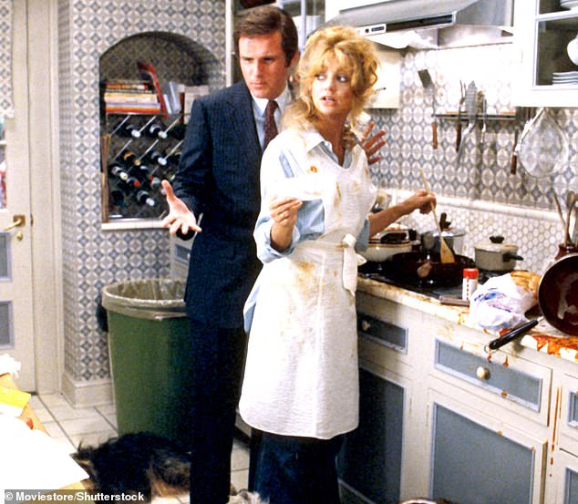 A great pair: Grodin was the uptight district attorney Ira who put demands on his lawyer wife played by Hawn