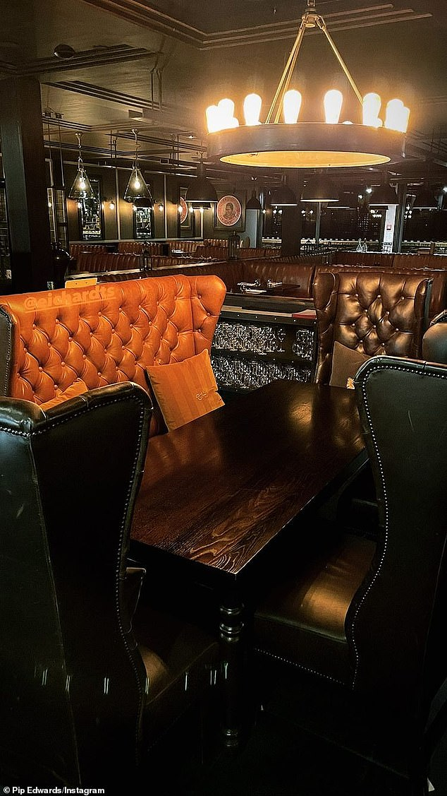 Classy! On Thursday night the leisurewear mogul paid a visit to fine-dining restaurant Rātā, showing off the venue's cosy leather booths and classy bathroom