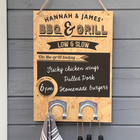 Personalised BBQ Sign