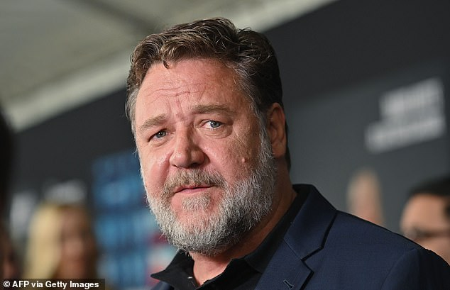 Wild night: The 56-year-old revealed on Triple M's Moonman in the Morning on Thursday how he ended up 'pretty stoned' and struggled to hold a conversation with Russell (pictured) after being invited to his apartment one night with 12 other guests