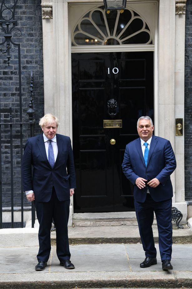 The two leaders posed for pictures on the steps of 10 Downing Street today