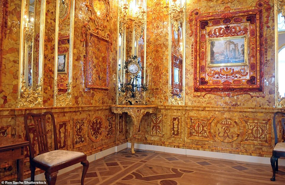 A 2003 replica of the Amber Room was completed in Pushkintown, Russia, for the anniversary of the founding of St Petersburg