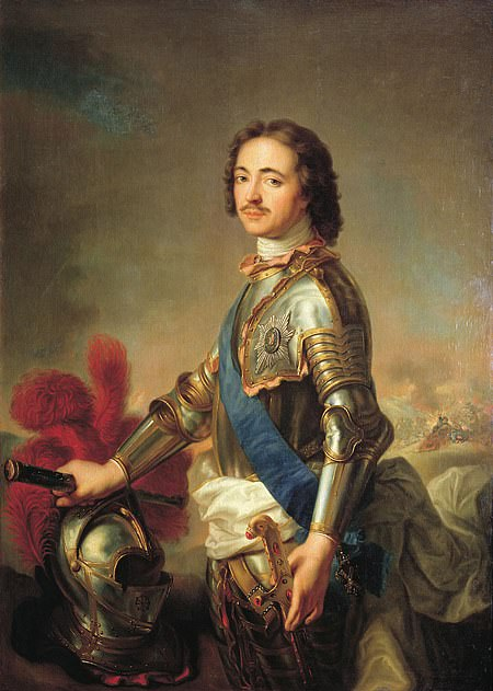 The Amber Room was originally a gift to Peter the Great (pictured