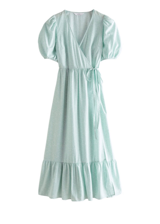 & Other Stories mini-me collection. pale blue wrap dress (Adult)