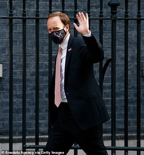 Matt Hancock, pictured arriving at Downing Street today, has come under intense scrutiny this week for fudging plans to force hospitals to test people for coronavirus before discharging them to care homes.