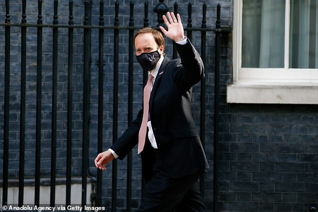 Health Secretary Matt Hancock (pictured on Downing Street today) said the vaccine's approval was a 'further boost to the hugely successful vaccination programme'