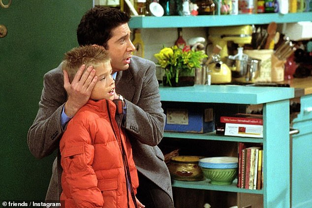 Too cute: Cole was cast to play Ben Geller, Ross Geller's son, on Friends