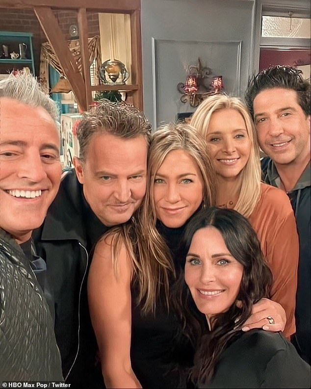 Star-studded guest list: The star's absences, however, were simply due to the 'incredibly difficult' timing of the reunion, which was 'the one night' all six of the sitcom's stars could attend