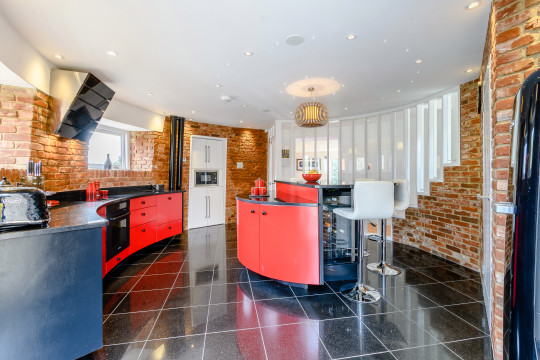 kitchen of the water tower conversion