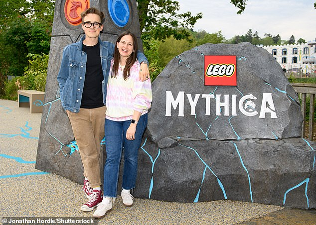 All about you: Among the other celebrities invited to enjoy the VIP event were McFly member Tom Fletcher and his wife Giovanna, who brought their children along for the day