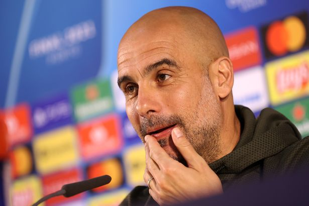 Pep Guardiola, Manager of Manchester City speaks during a Press Conference prior to the Manchester City FC Press Conference ahead of the UEFA Champions League Final between Manchester City FC and Chelsea FC at Estadio do Dragao on May 28, 2021 in Porto, Portugal.