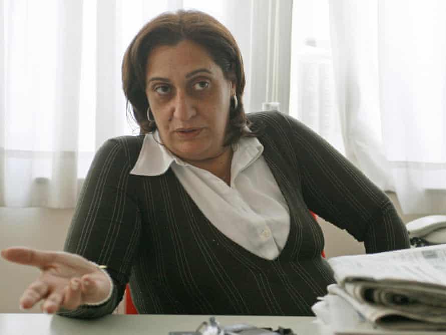 Rosaria Capacchione in 2008 in her office at Il Mattino newspaper.