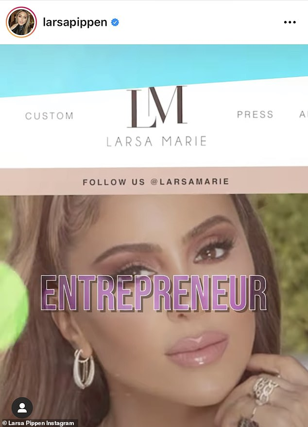 Woman of many talents:The former bestie of Kim Kardashian wrote alongside the ad: 'I don't care what anyone says. Every woman can love and live on her own terms. Welcome to my OnlyFans, a really fun way to get to know the real me and for me to interact one on one with my true fans!'