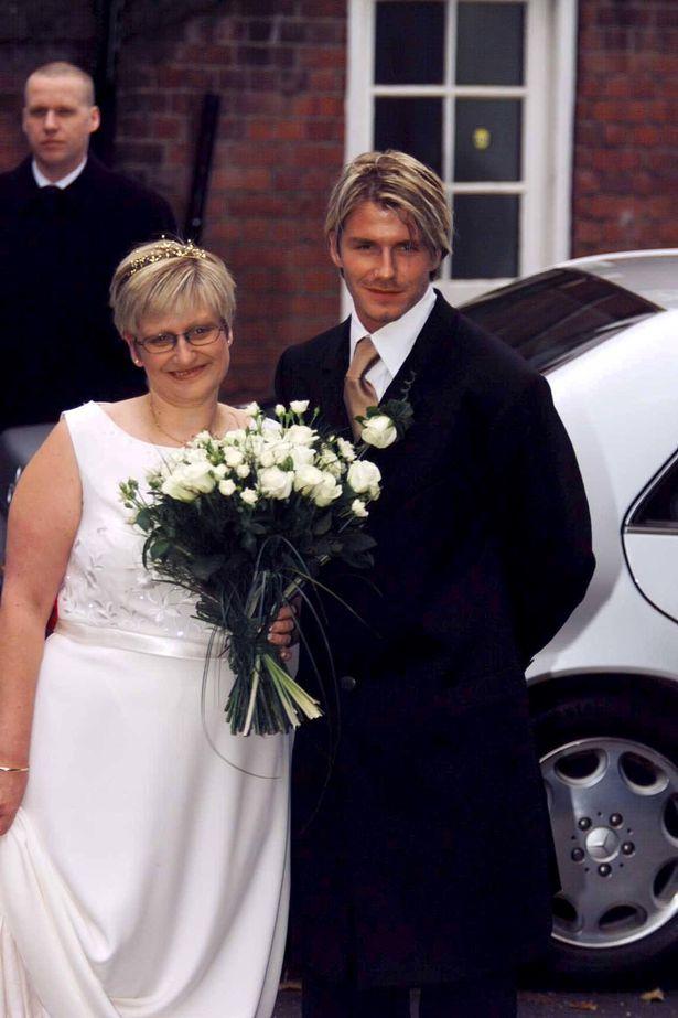 David at Lynne Beckham's wedding