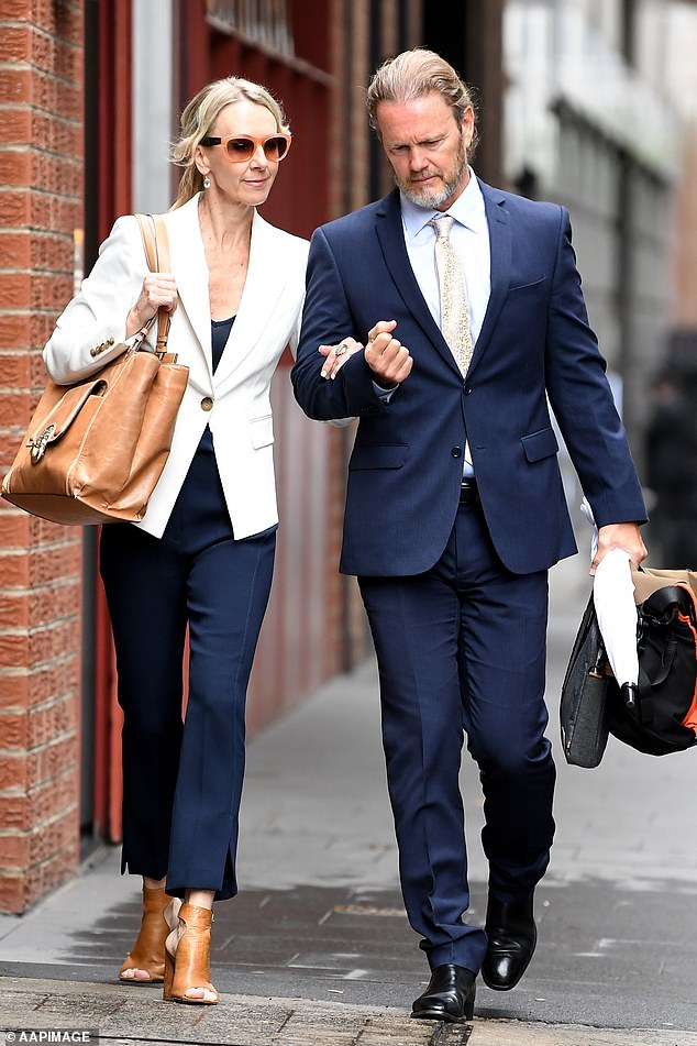 McLachlan recently broke his silence after being acquitted of sexual harassment in an explosive interview with Channel Seven. He's pictured with partner Vanessa Scammell (left) during his trial last November
