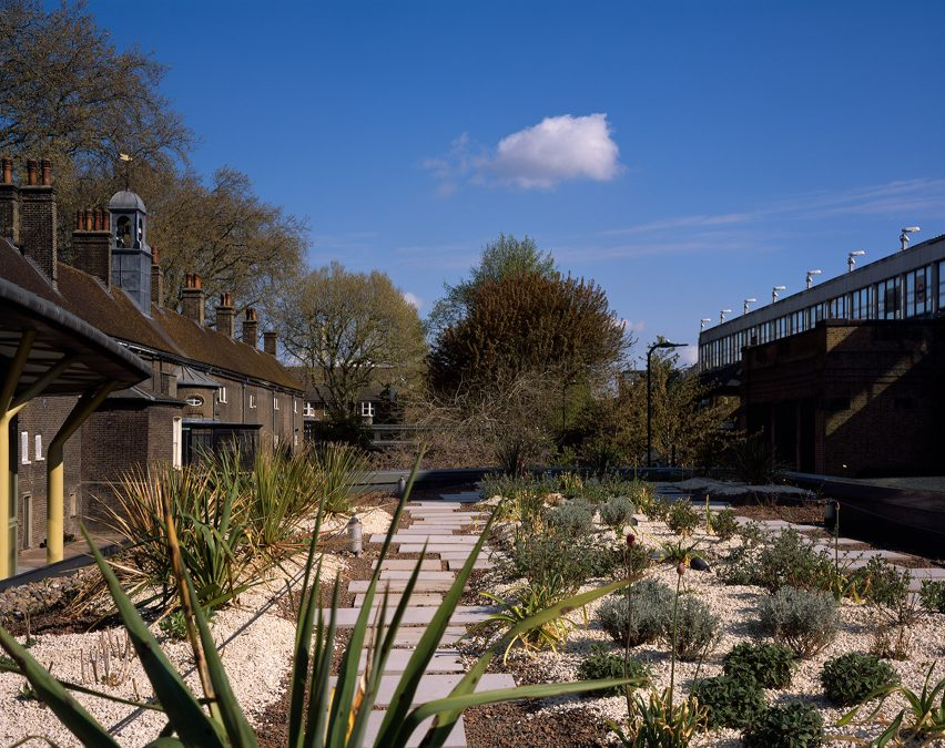 A garden at the Museum of the Home in London