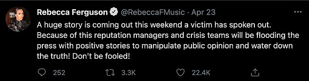 Prior to Katie's interview with The Sun, Rebecca revealed that a 'huge story' was about to come out regarding alleged abuse in the industry'