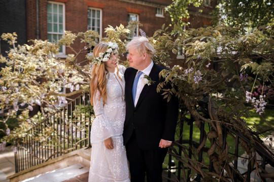 Boris Johnson and Carrie Symonds on their wedding day