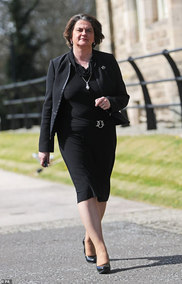 Humiliation: Arlene Foster took Dr Jessen to court for tweeting false allegations in 2019 that she was having an extra-marital affair and a judge ruled last week it was ¿grossly defamatory¿
