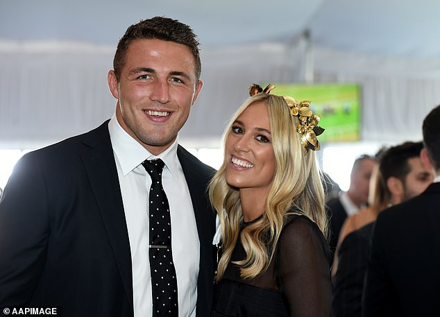 Touchy subject:In another comment, the user claimed she wasn't jealous of Phoebe for being previously married to a footy star, and wouldn't touch Sam Burgess (left) with a 'ten foot pole'