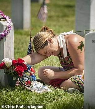 For the brave: 'We count the names of each fallen solider lest they be countless. They are the good guys. They run to the sound of gunfire. They know pain and suffering we never will,' said the actor