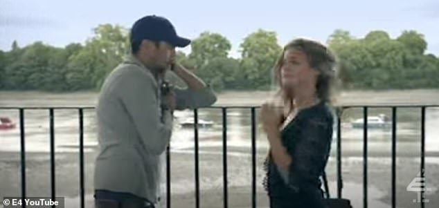 Throwback:The original moment unfolded in 2011's season two of the show, with Millie and Hugo meeting up next to the Thames after the former heard a rumour he had cheated on her