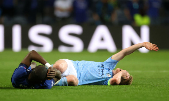 Rudiger and De Bruyne collided in Saturday's final