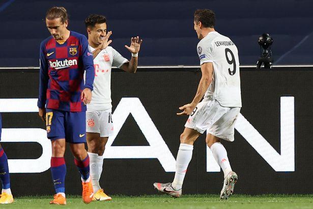 Lewandowski was at the heart of Bayern's 8-2 thrashing of Barca last August
