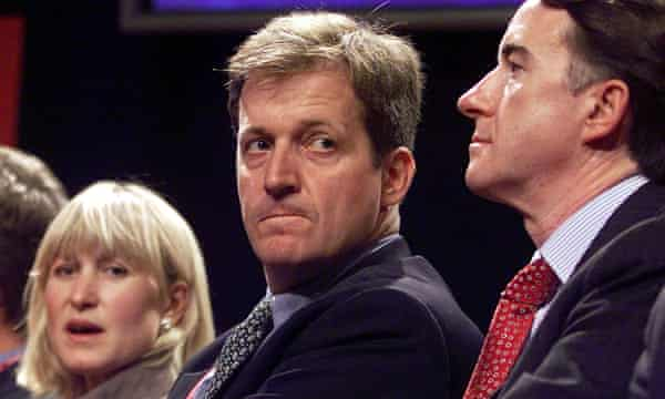 Fiona Millar, Alastair Campbell and Peter Mandelson