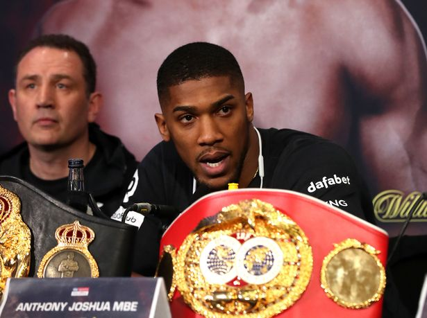Eddie Hearn feels Anthony Joshua will be in his element when the trash talking really starts
