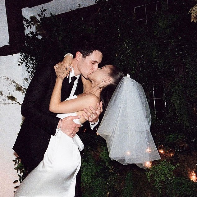 Number one! Ariana Grande and her new husband Dalton Gomez broke a record on Friday. Photos of the couple during their surprise wedding ceremony at their home in Montecito, California have become the most liked Instagram post of all time that features people