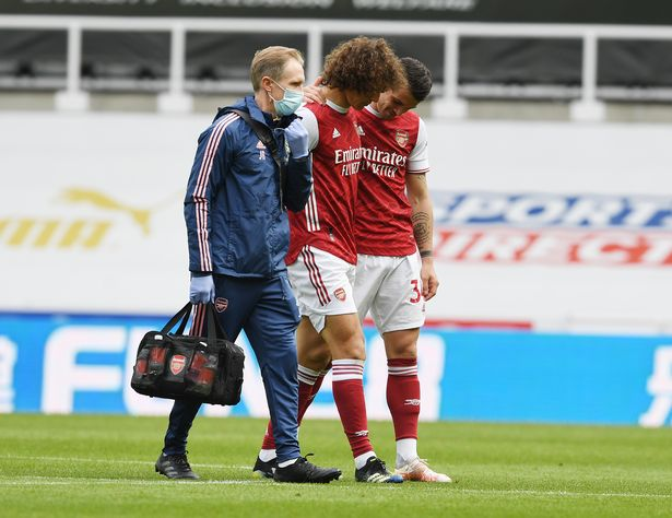 David Luiz goes off injured against Newcastle