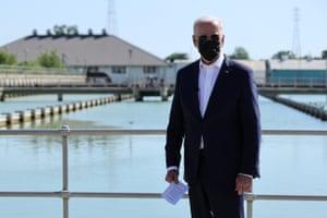 Joe Biden tours the Carrollton Water Plant in New Orleans, Louisiana, last week.