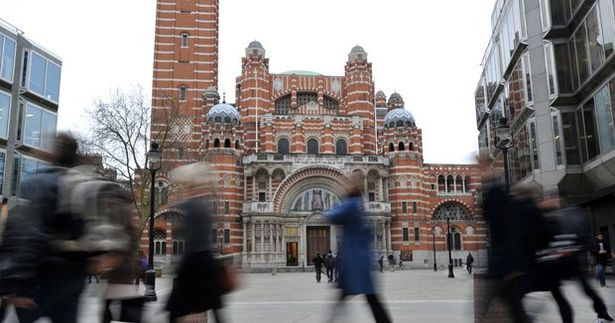 The service was carried out at Westminster Cathedral in Central London