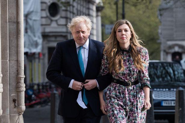 Boris Johnson and his fiancee Carrie Symonds