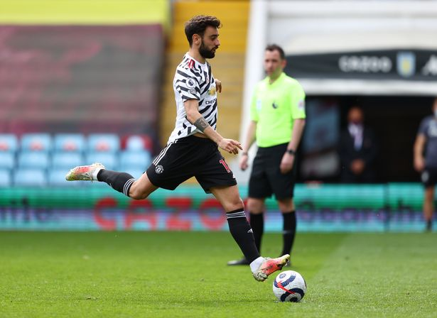 Bruno Fernandes' penalty against Aston Villa means 53.9 per cent of his goals have come via the penalty spot