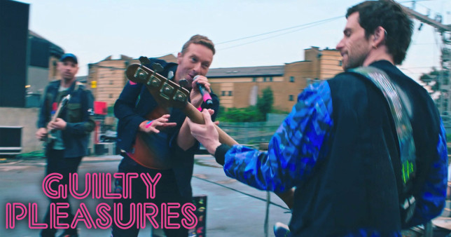 Coldplay performing