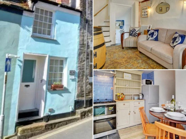 pictures of a Cornwall house narrower than a London bus for sale for £430,000