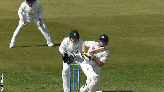 Former Yorkshire skipper Alex Lees was out for 99 for the first time in his 120-match first-class career